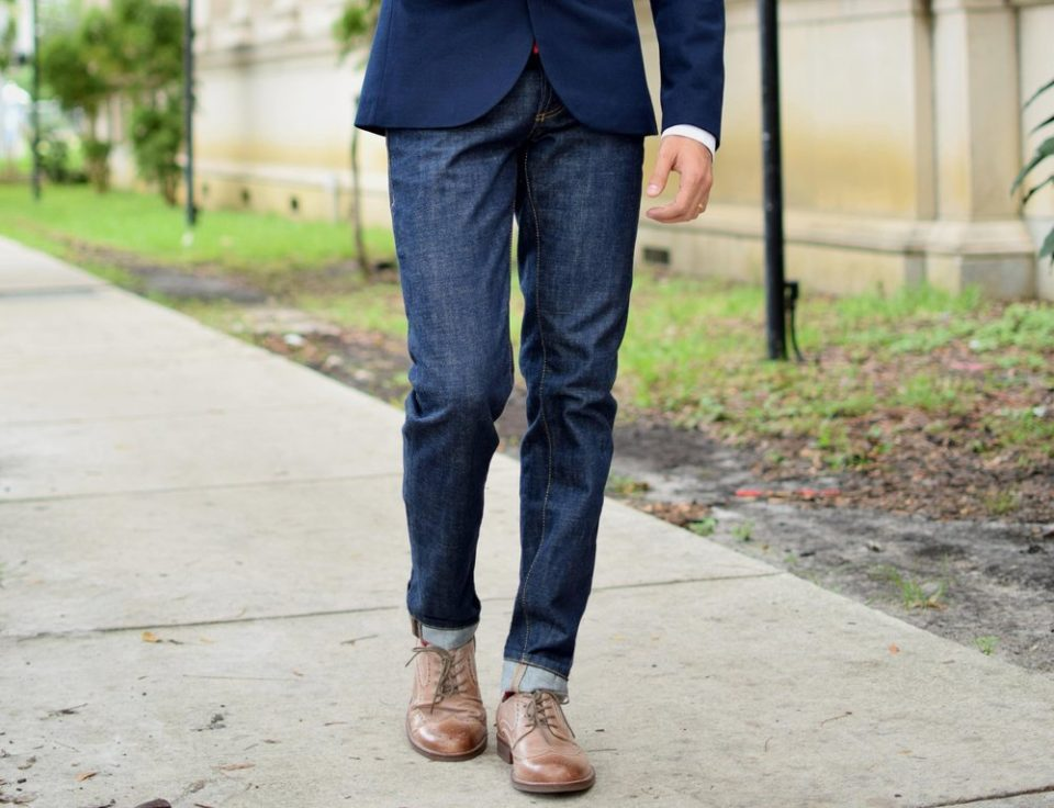 3d08b7d689898a Wearing Dress Shoes With Jeans the Right Way
