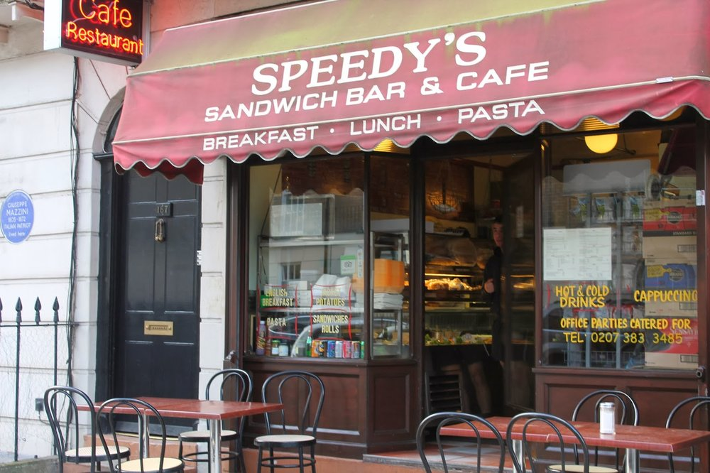 Speedy's Cafe London – tv and film travel destination