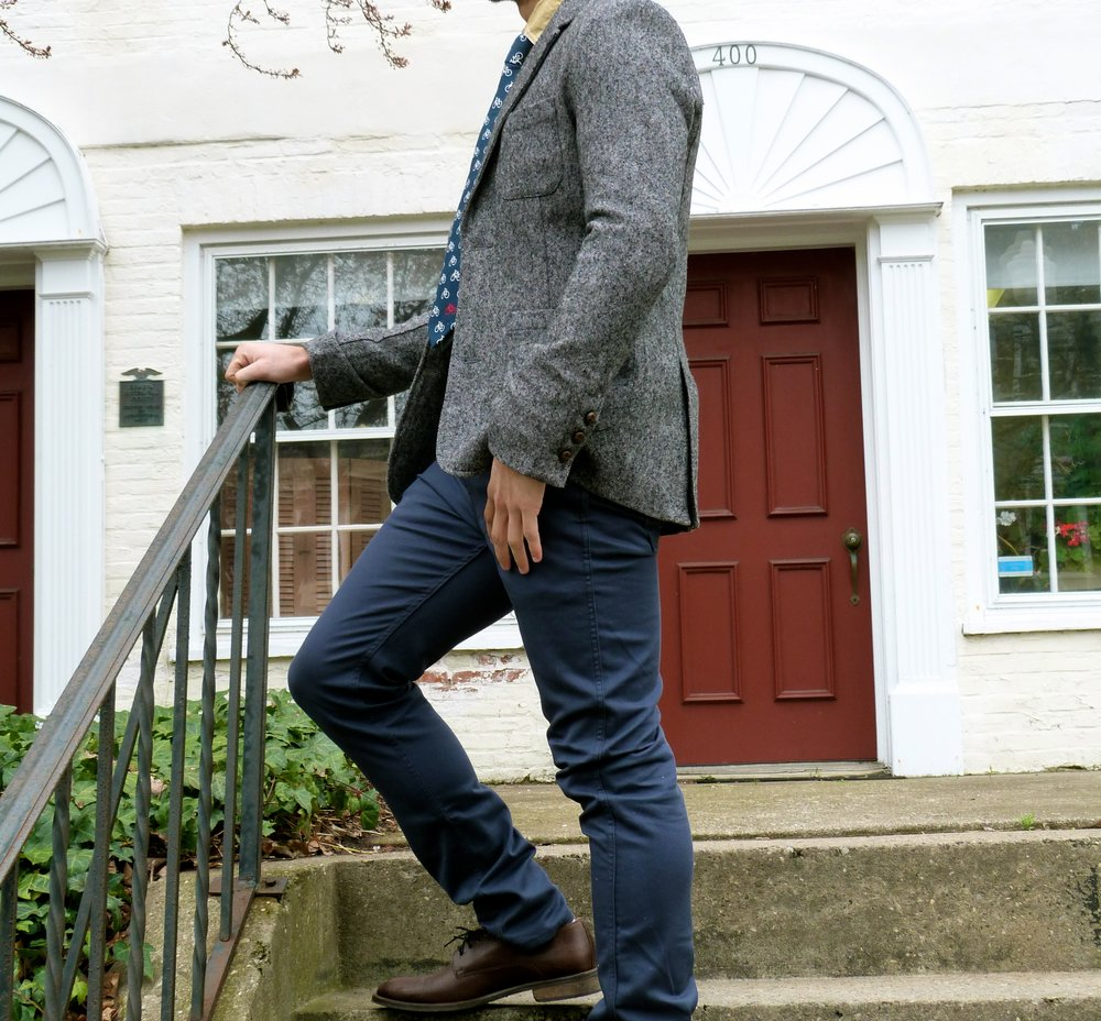 Sport Coat – dress shoes with jeans