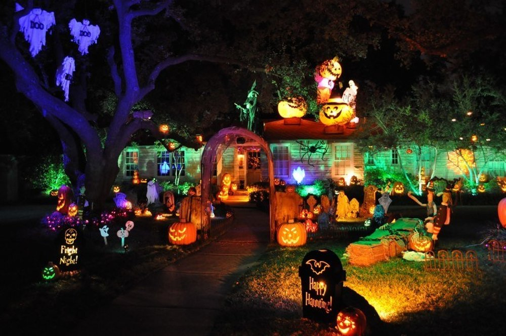 The Lighted Path – halloween decorations
