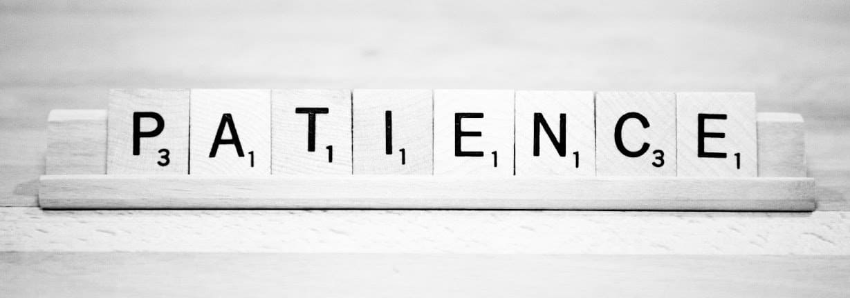 Be Patient – shopping tip