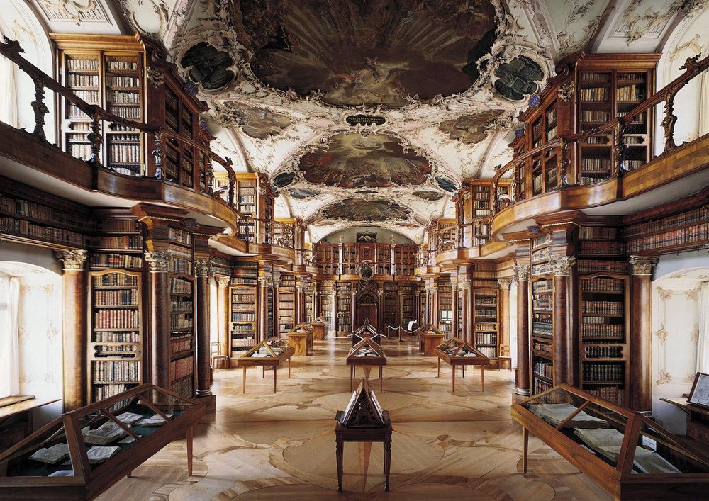 Beautiful Abbey Library of Saint Gall