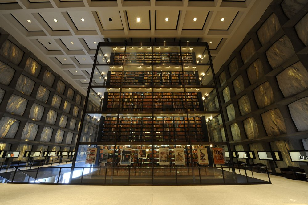 Beinecke Rare Book & Manuscript – beautiful library