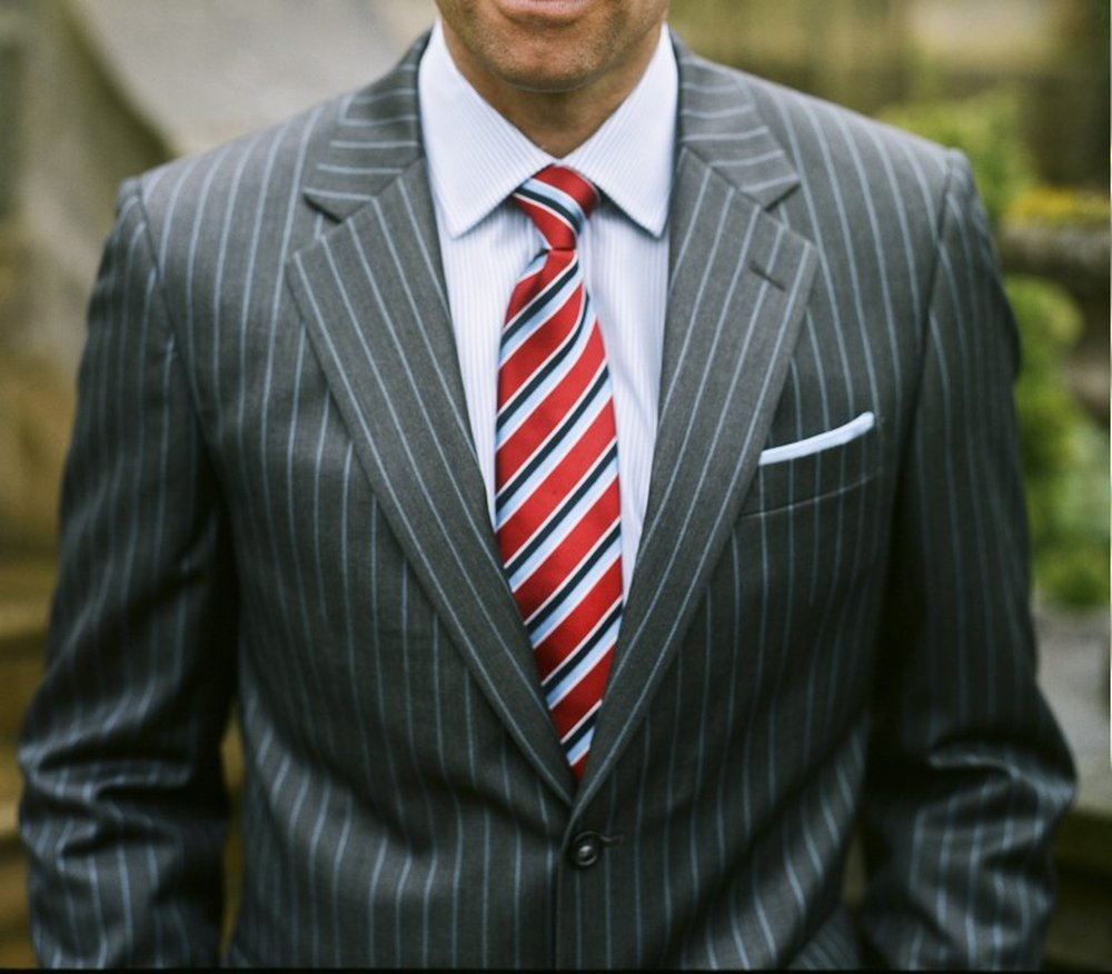 Colored Pinstripe Suit
