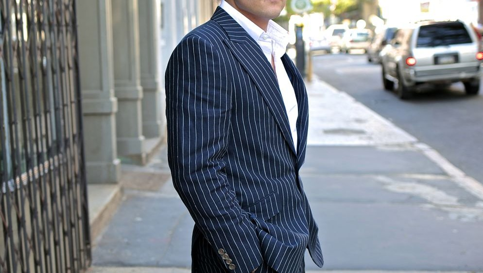 Contemporary Pinstripe Suit