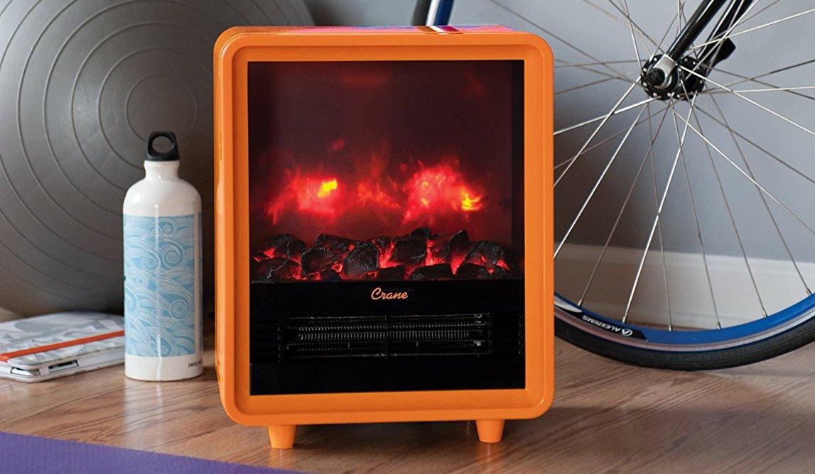 Crane Mini Fireplace Space Heater
