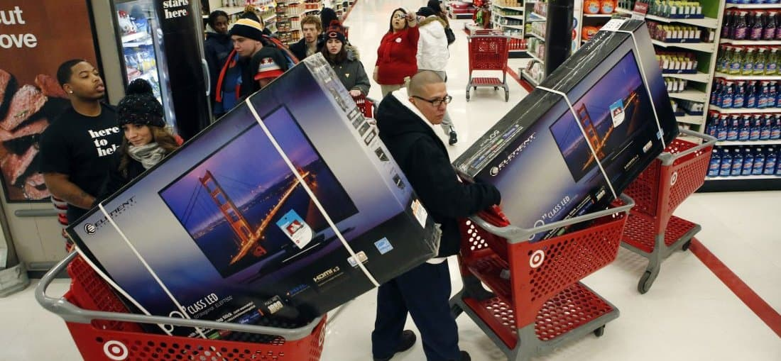 Early Black Friday Shopping At A Target Store