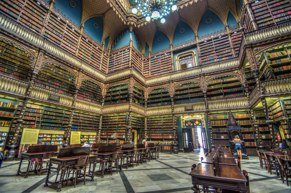 Royal Portuguese Reading Room – beautiful library
