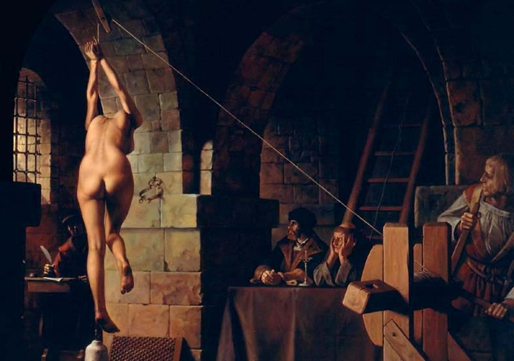 Strappado – medieval torture device