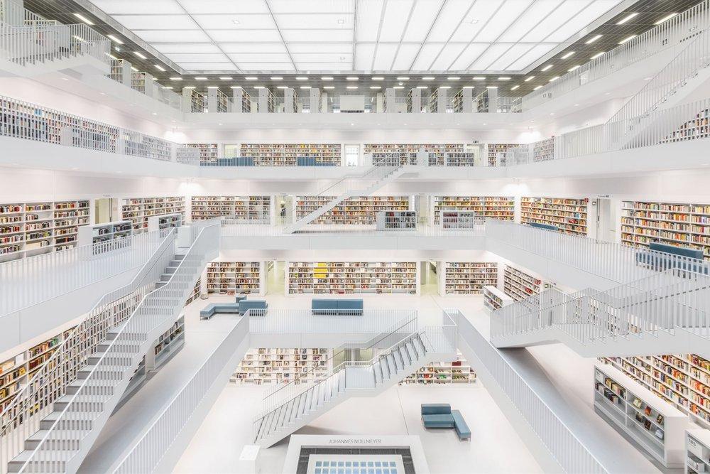 Stuttgart City – beautiful library
