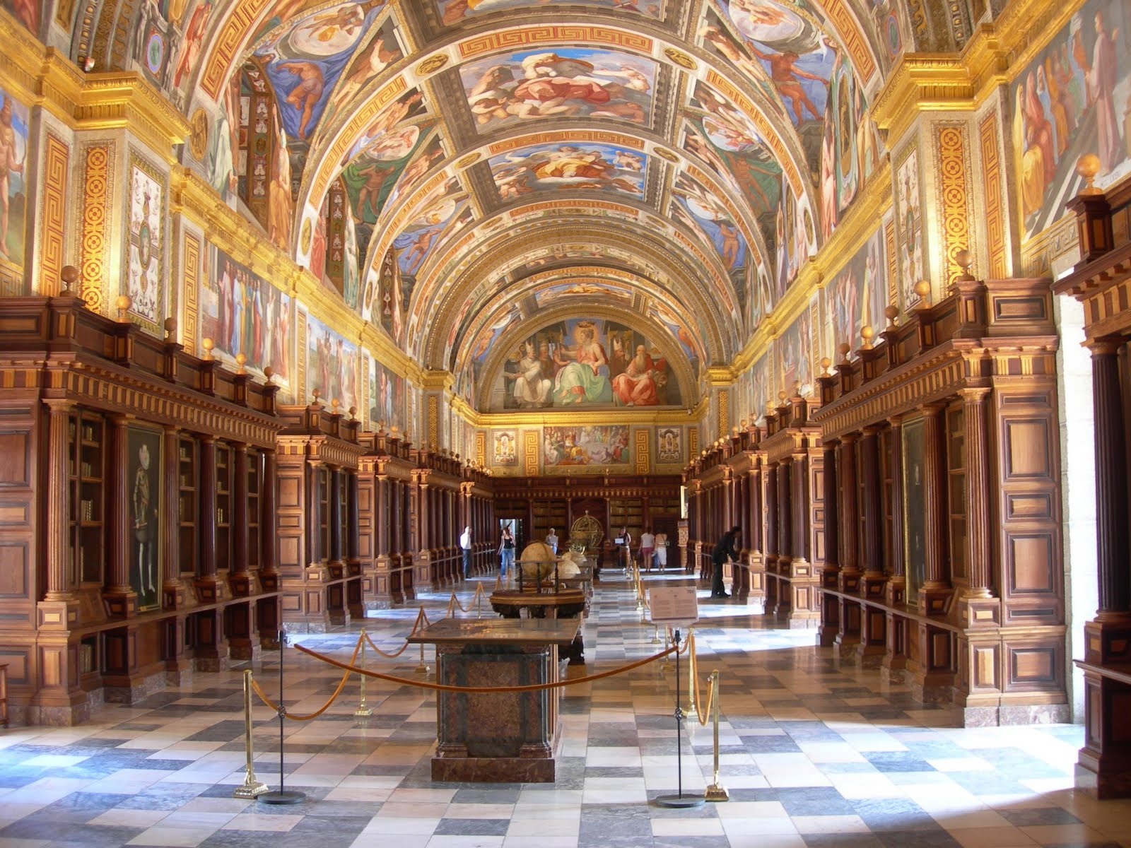 The Beautiful Library of El Escorial