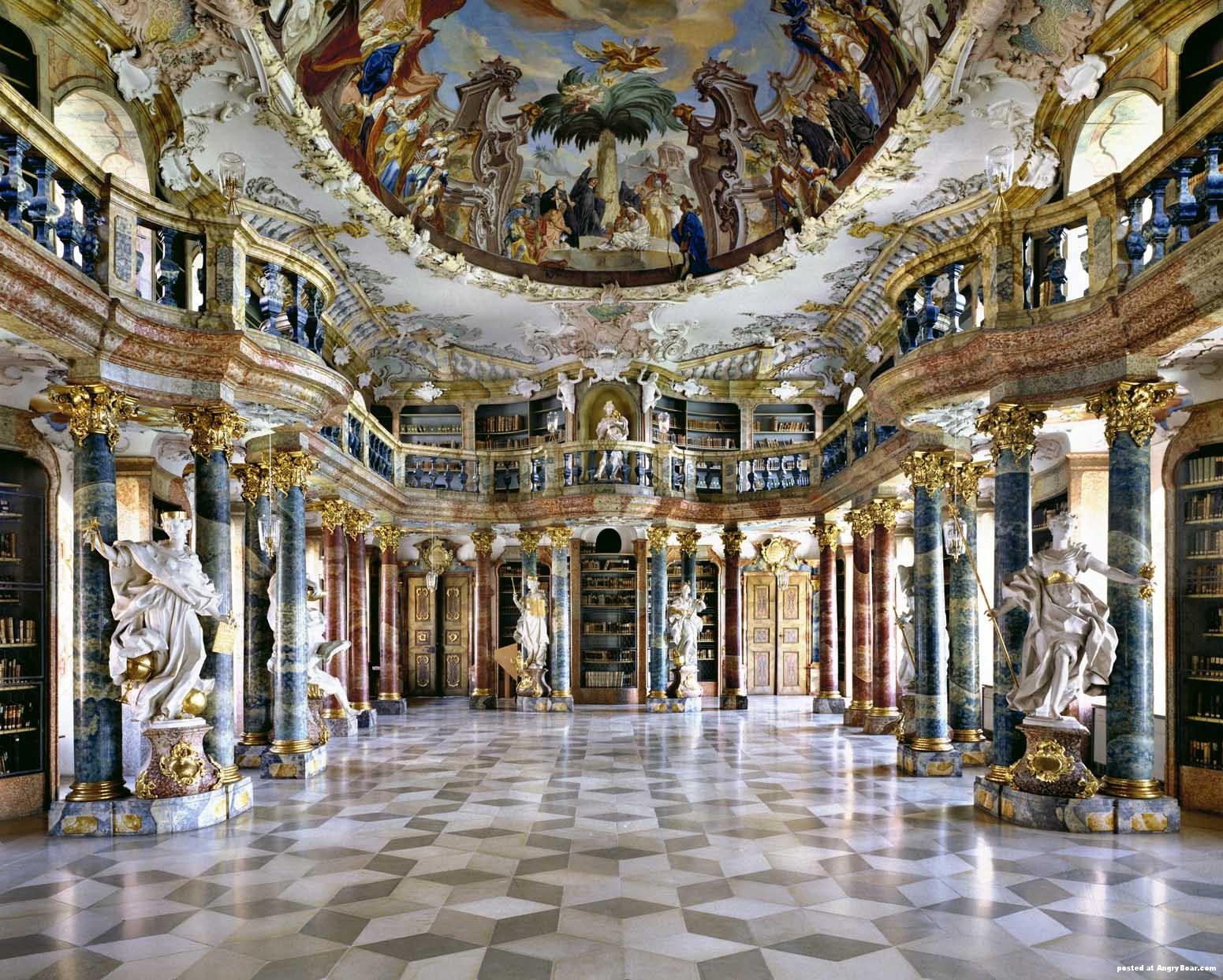 Wiblingen Monastery – beautiful library
