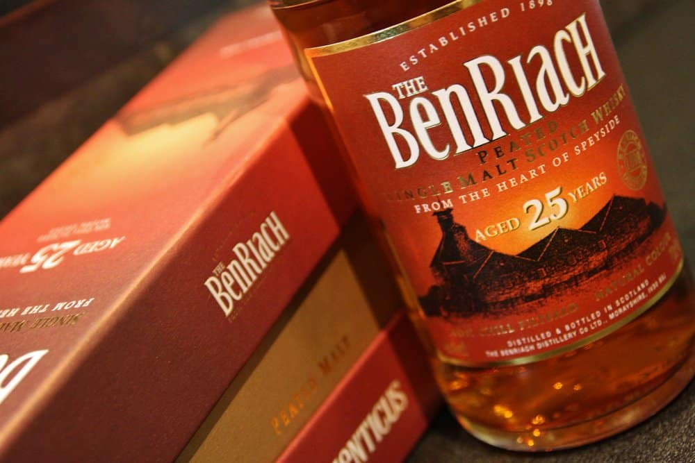 BenRiach 25 Year Old Authenticus Peated – scotch under 250