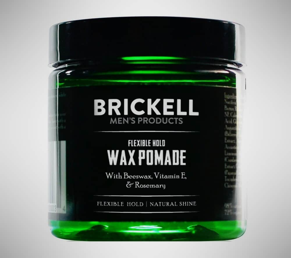Brickell Flexible Hold Wax Pomade for Men