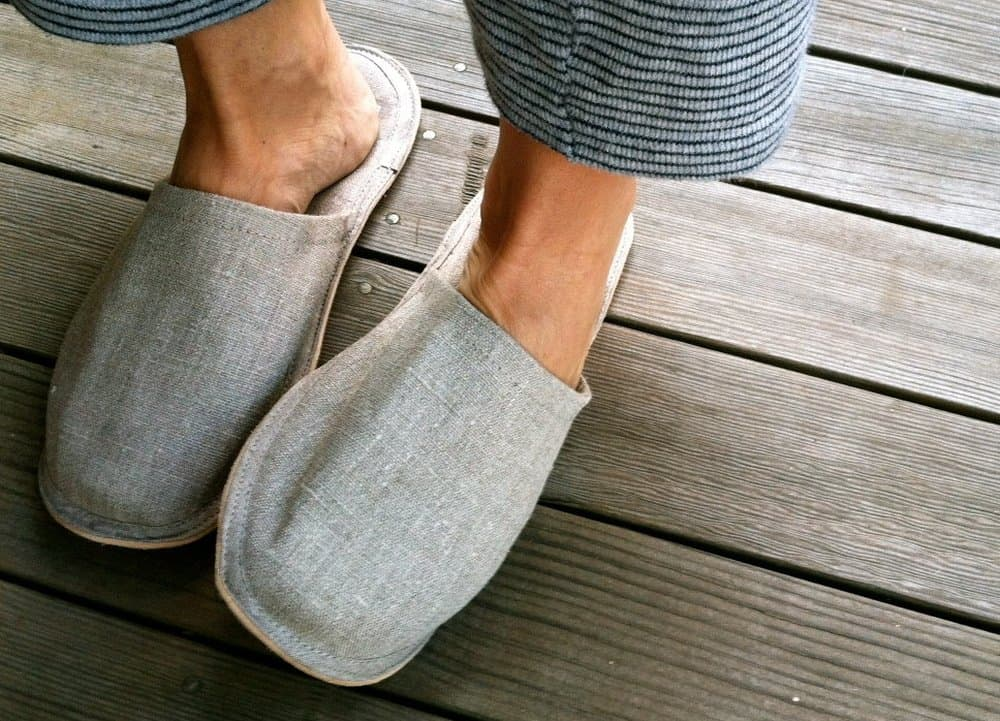 Fog Linen – mens slippers