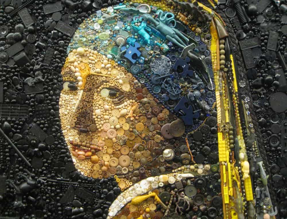 Jane Perkins Girl with a Pearl Earring – junk art