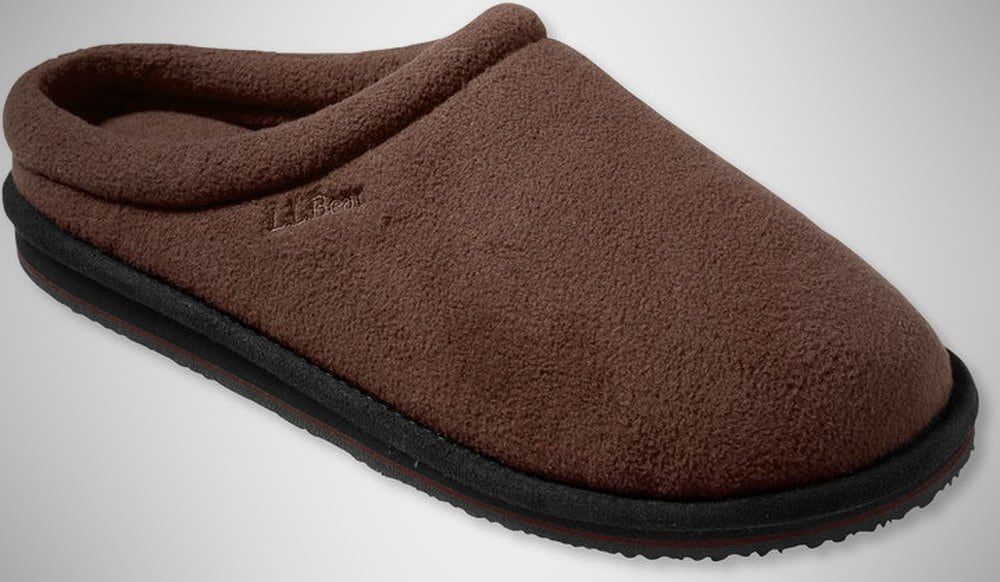 L L Bean Fleece Mens Slipper Scuffs