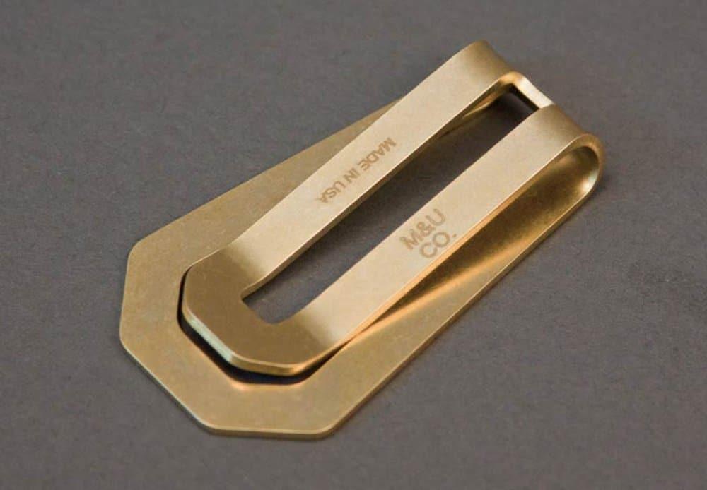 Maxx & Unicorn Co Brass Money Clip – mens accessories