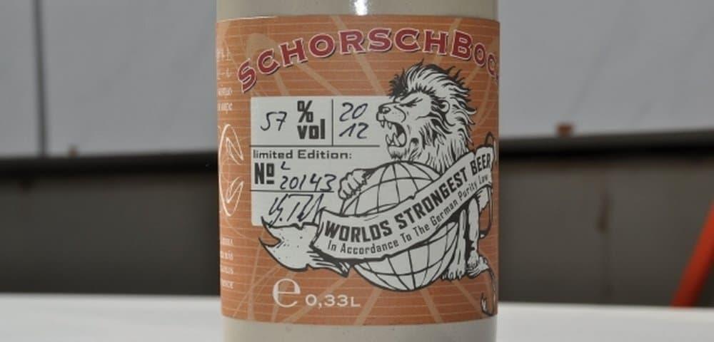 Schorschbrau's Schorschbock 57 Finis Coronat Opus – strongest beer
