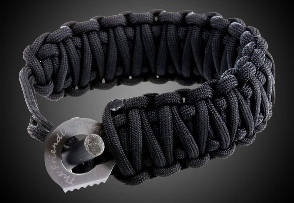 The Friendly Swede Paracord Bracelet with Fire Starter – mens accessories