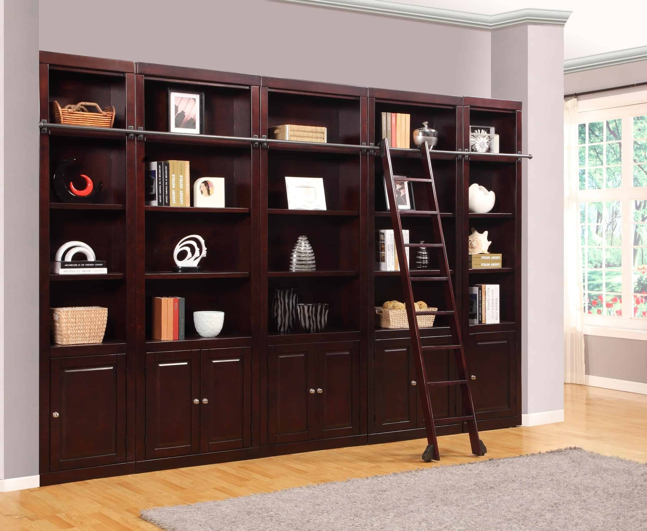 Boston 5 Piece Library Wall Unit Bookshelf