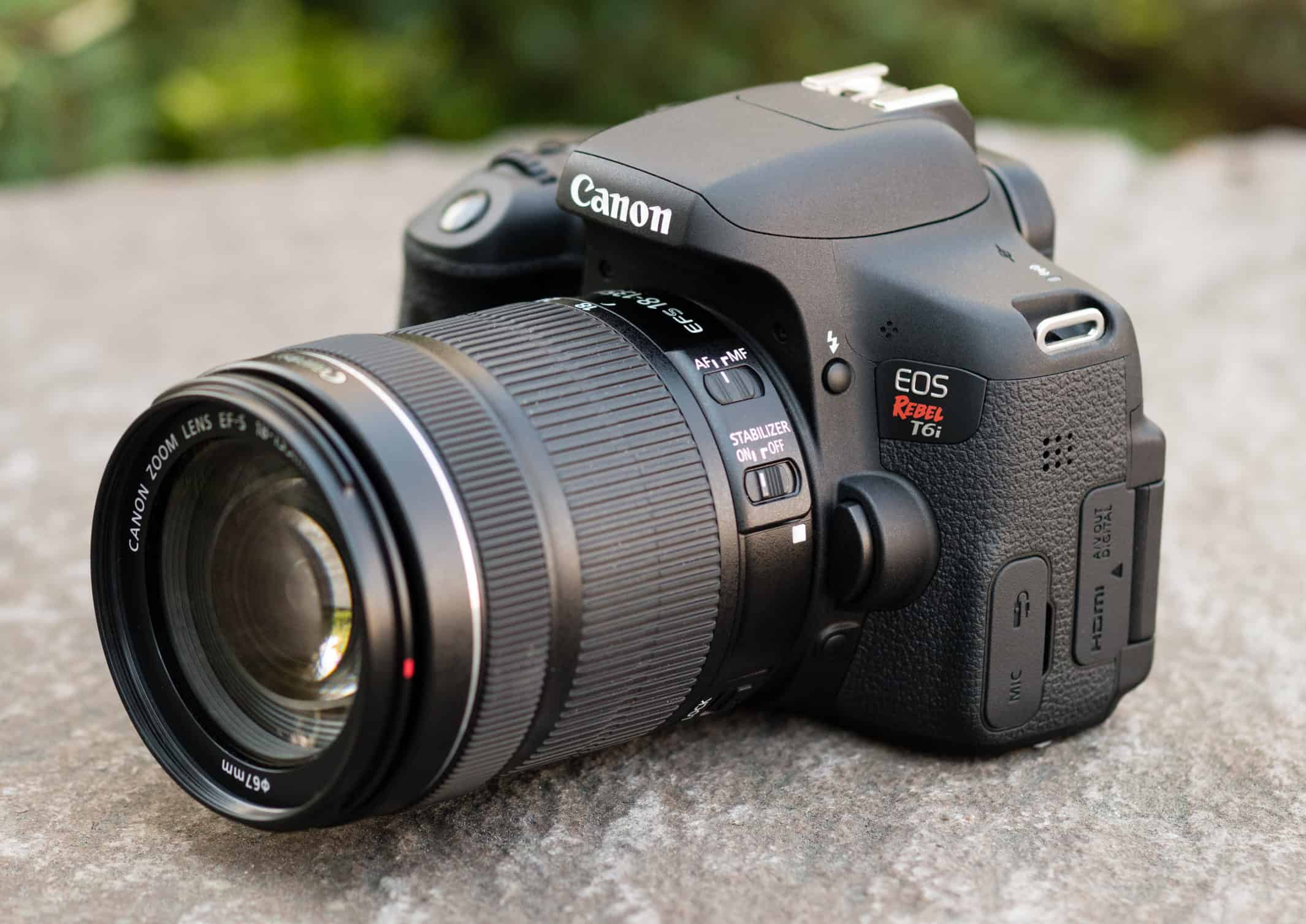 Canon EOS Rebel T6i-750D amateur camera