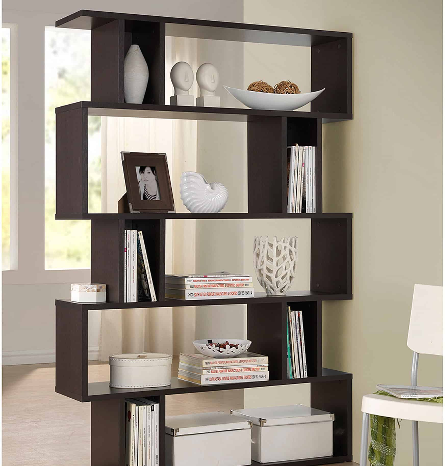 bookcase lucas bookcases sided swivel