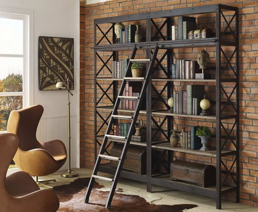 cast ideas metal look amazon industrial shelves incredible bookshelf com rugged bookcases solid reclaimed book wood iron farm and wrought bookcase