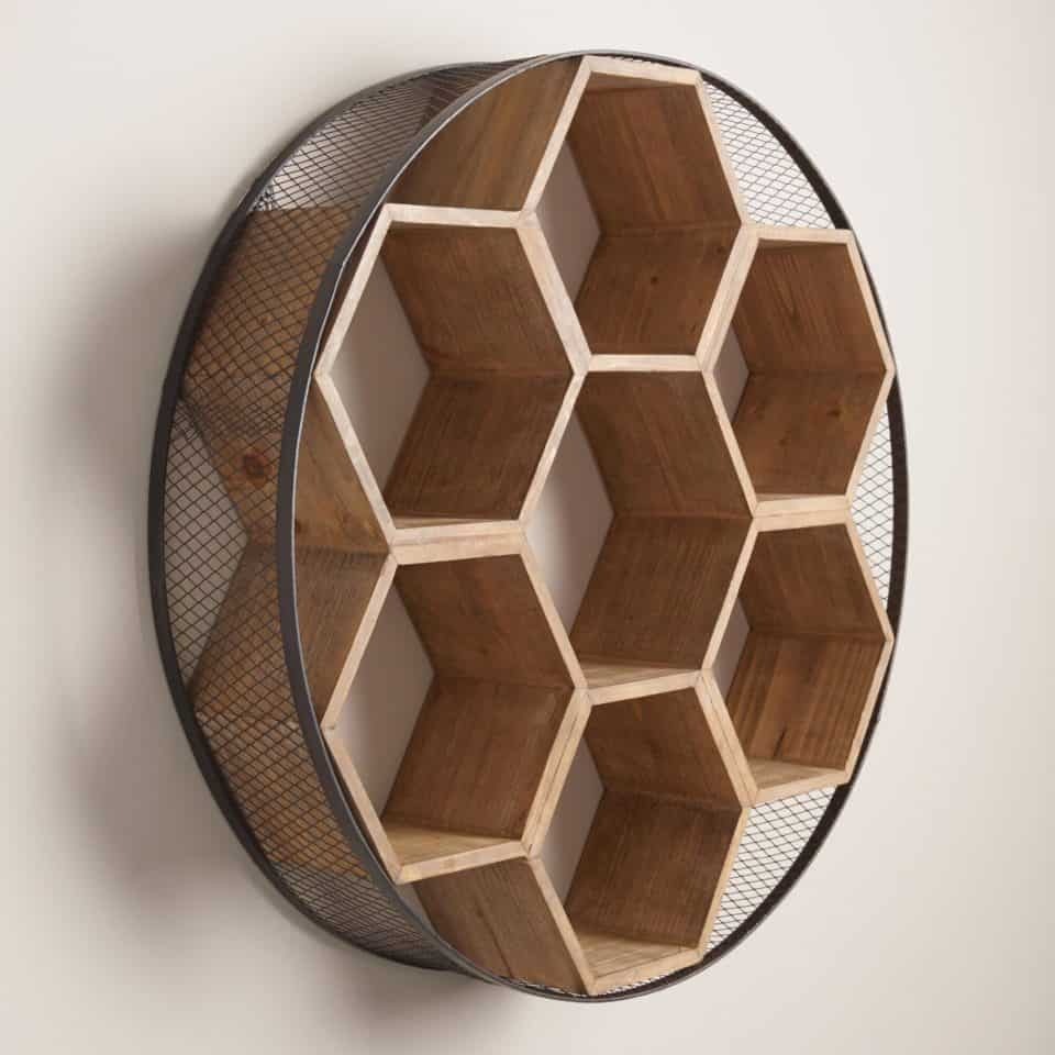 crystal loving shelf shadow hererhlovingherecom diy wood hexagon box wall honeycomb rhstorenvycom shelves bookshelf