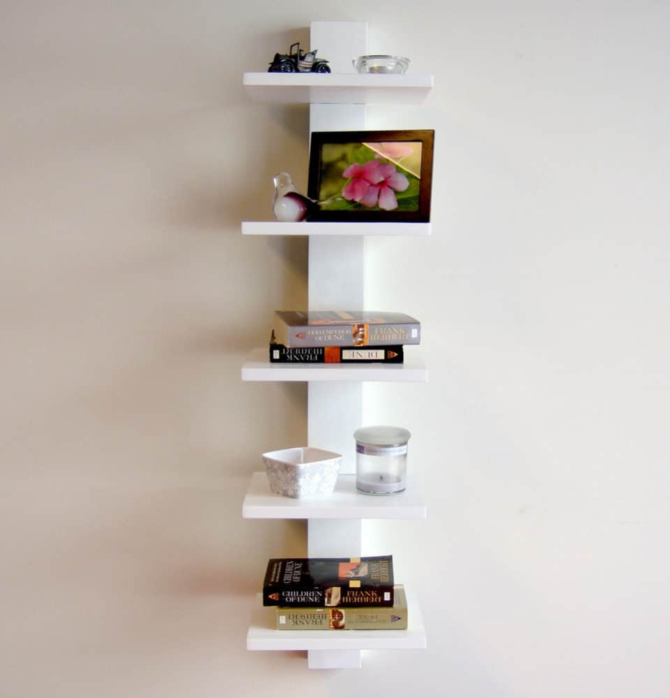 View In Gallery Spine Wall Bookshelf 959x999 Literary Elitists Love These 9 Bookshelves
