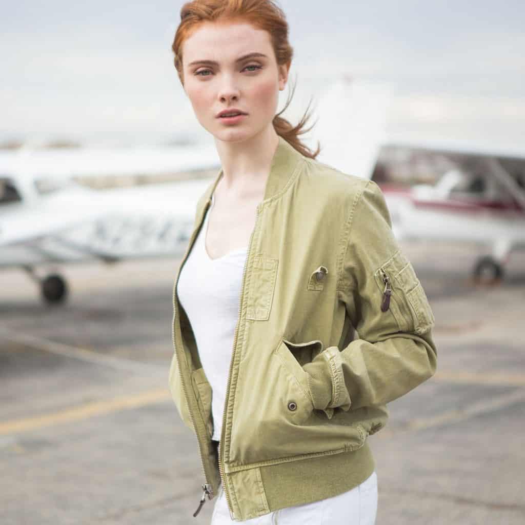 Women's Cotton MA-1 Bomber Field Jacket