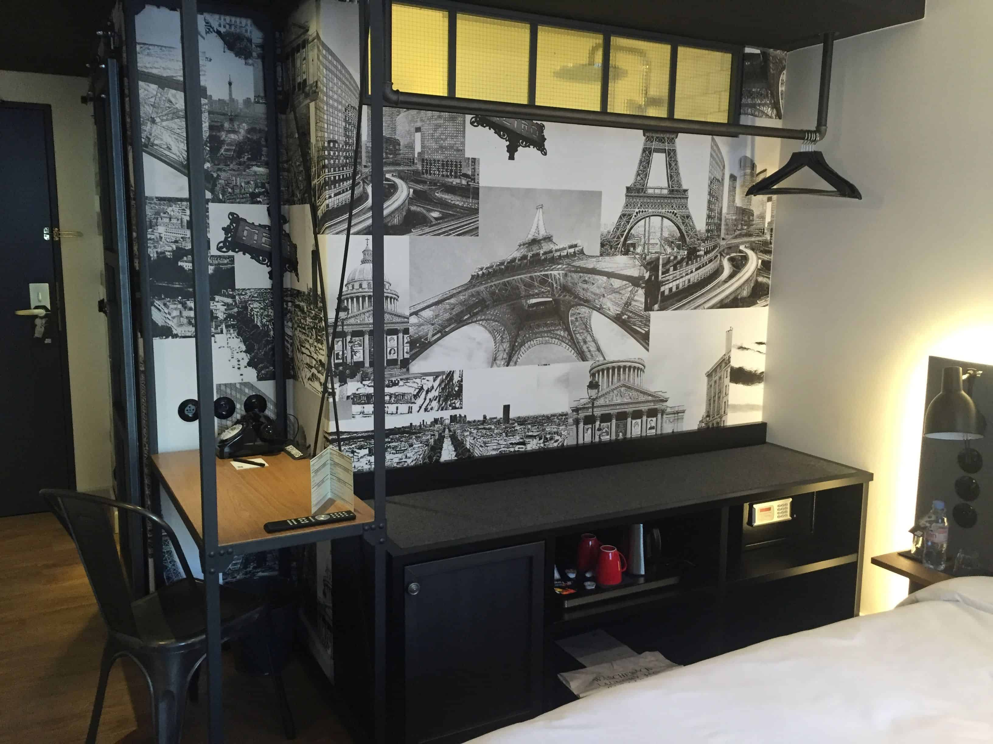 Industrial room design with modern accents
