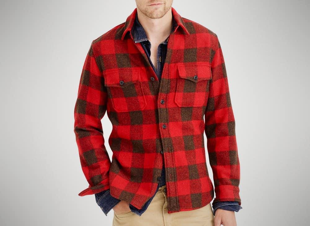 J. Crew Buffalo Check CPO Shirt Jacket