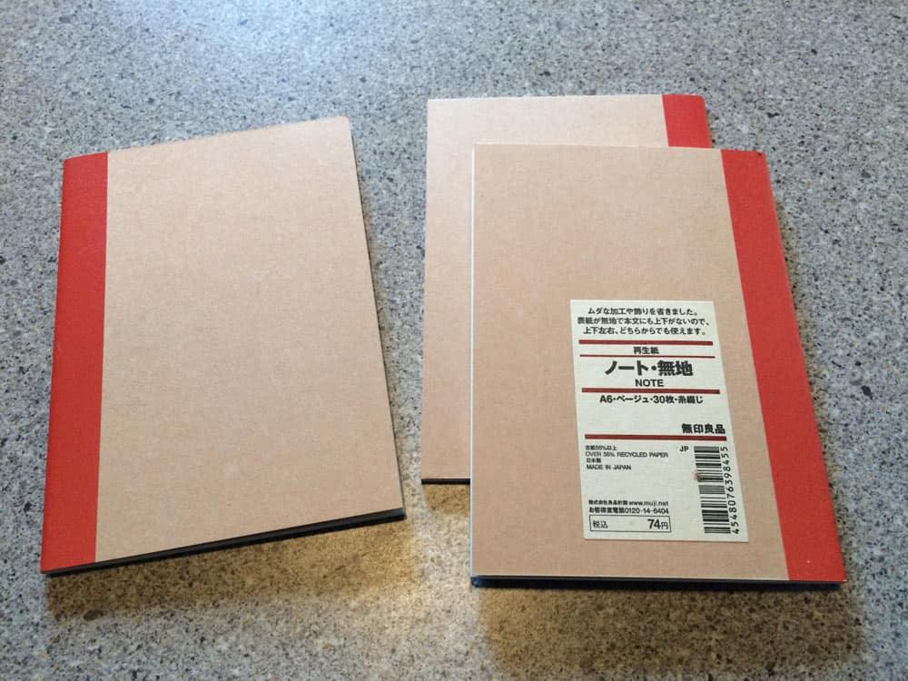 Muji A6 – edc notebook