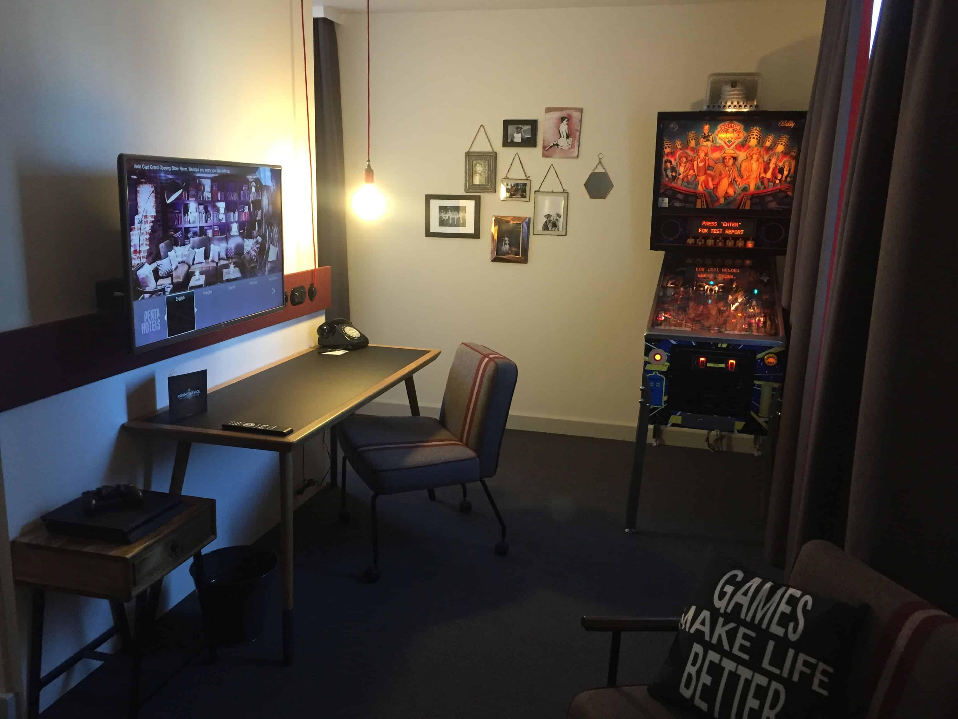 Player Pad room design – pentahotel paris