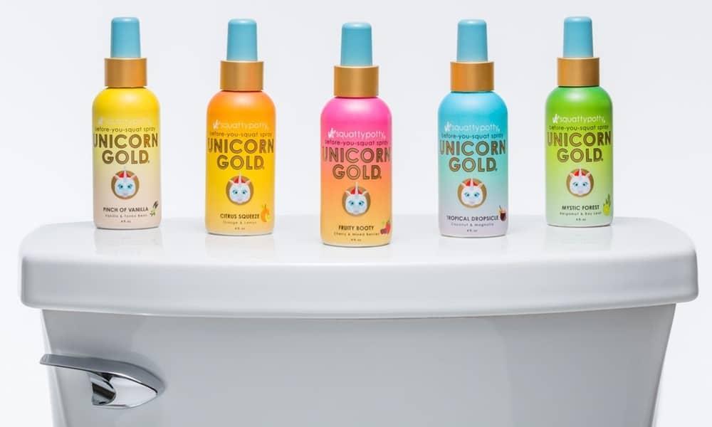 Unicorn Gold Toilet Spray – clean bathroom