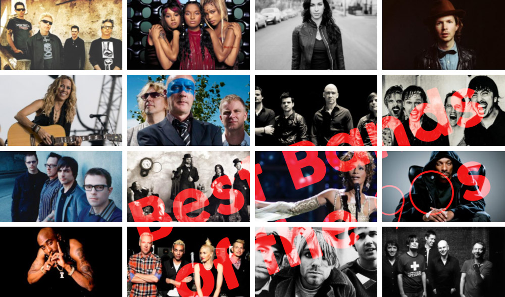 Best Bands of the 90s