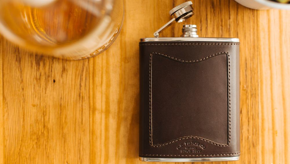 Filson Leather and Stainless Steel – flask