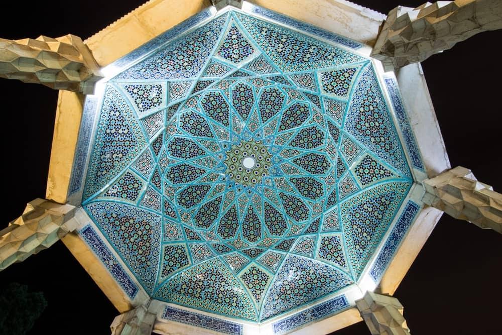 Hafez's Tomb, Shiraz, Iran – beautiful ceiling