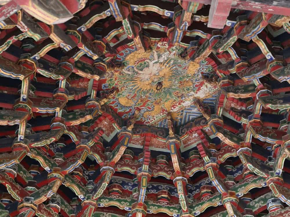 Lungshan Temple, Lukang – beautiful ceiling