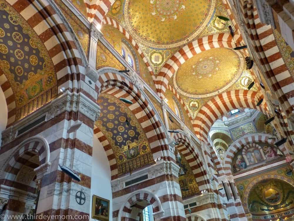 Notre-Dame de la Garde, Marseille – beautiful ceiling