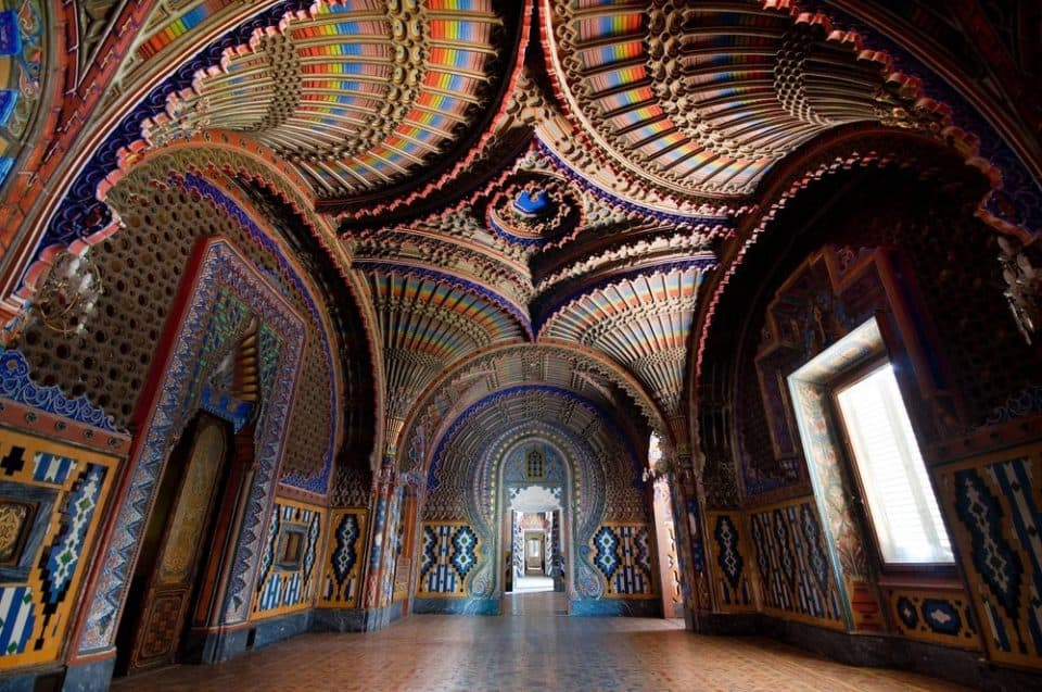Peacock Room Castello di Sammezzano Italy beautiful ceiling 960x637 Look Up At The 21 Most Beautiful Ceilings In The World