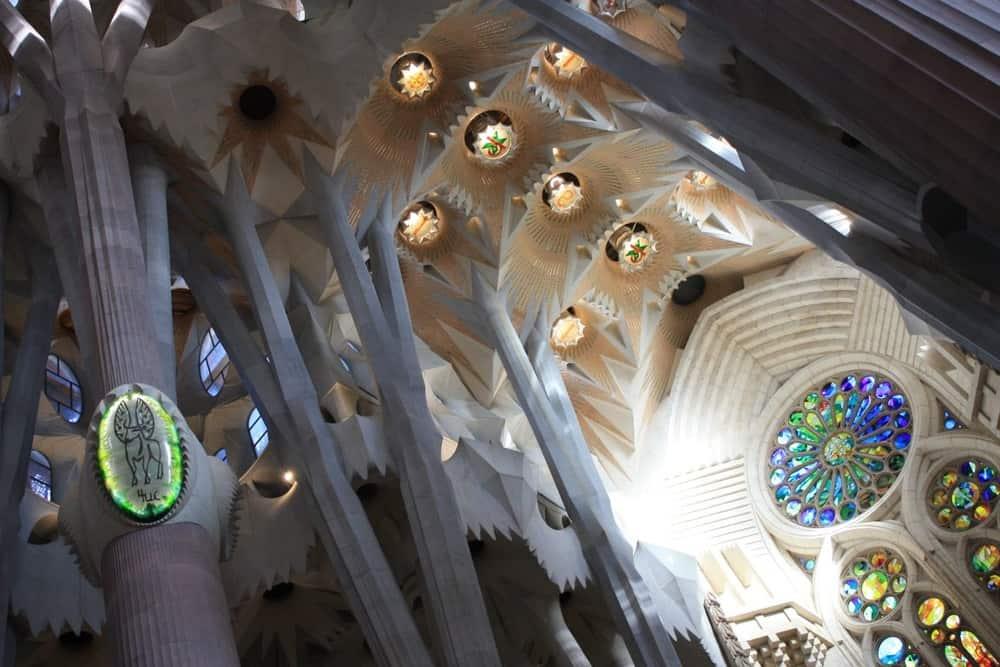 Sagrada Familia, Barcelona – beautiful ceiling