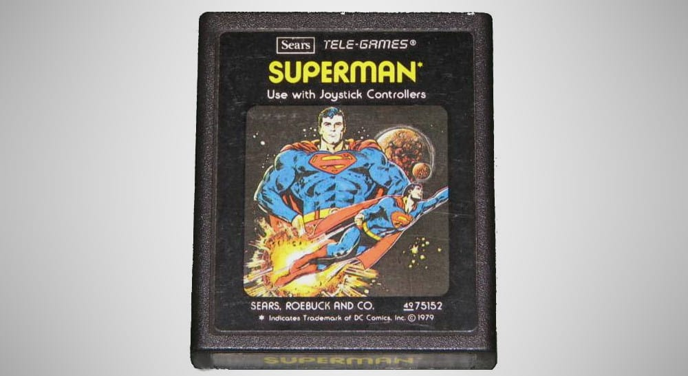 Superman Yellow Text – valuable video game