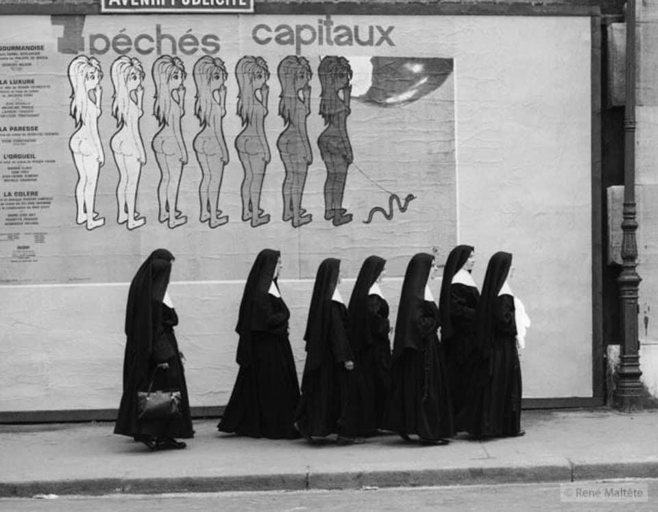 7 Deadly Sins René Maltête street photograph 960x747 25 Street Photographs by René Maltête That Changed The World