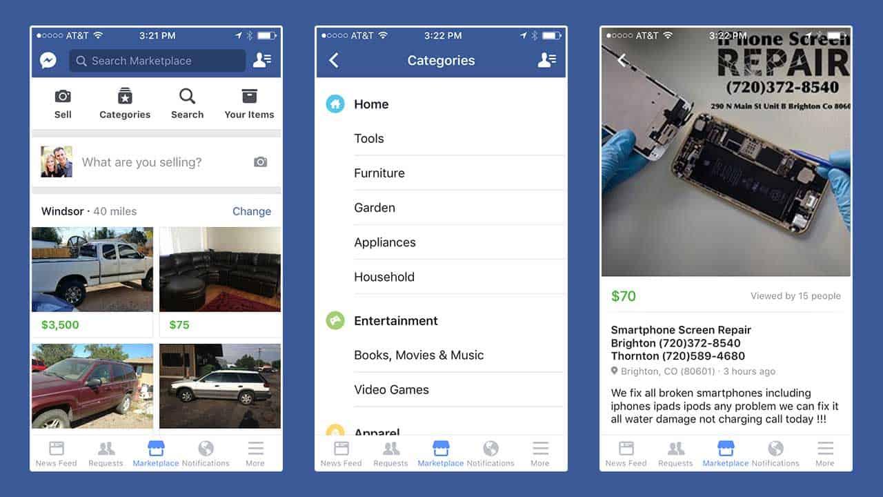 Facebook Marketplace – buy used car