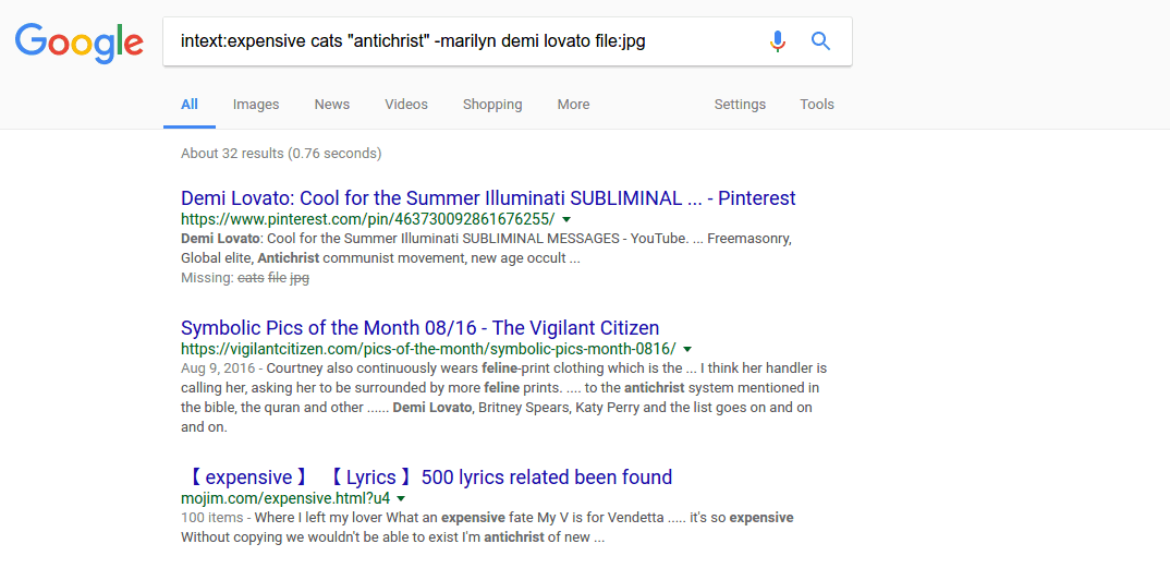 Goole Search Tips