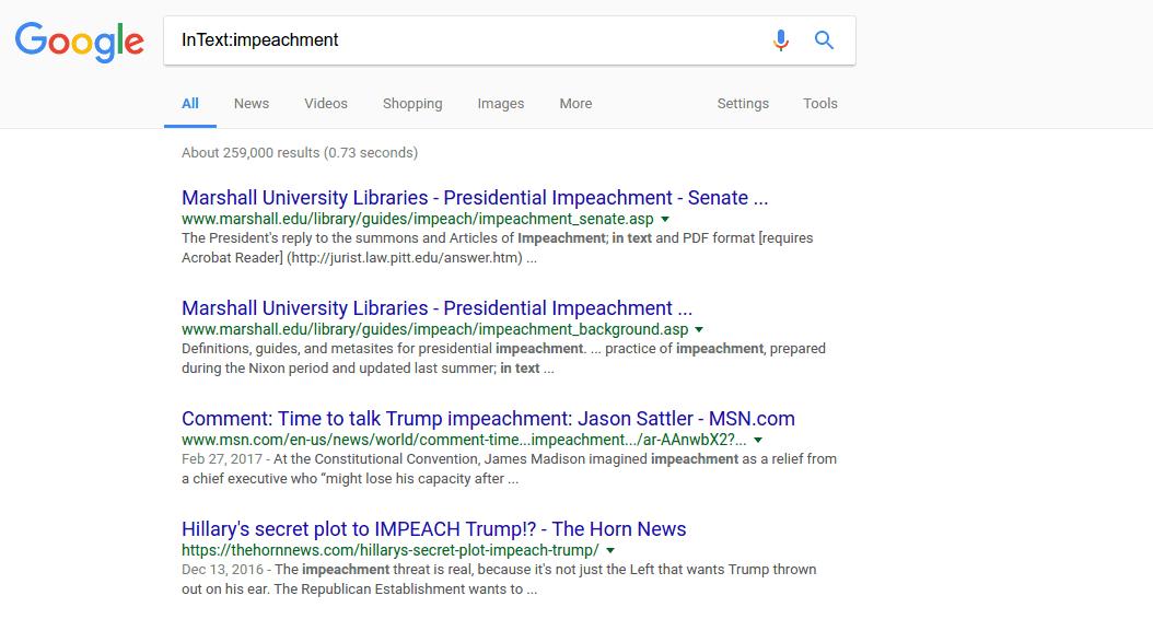InText – google tip
