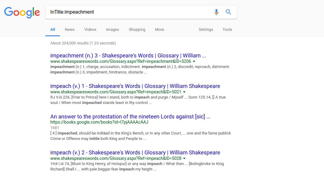 InTitle – google tip