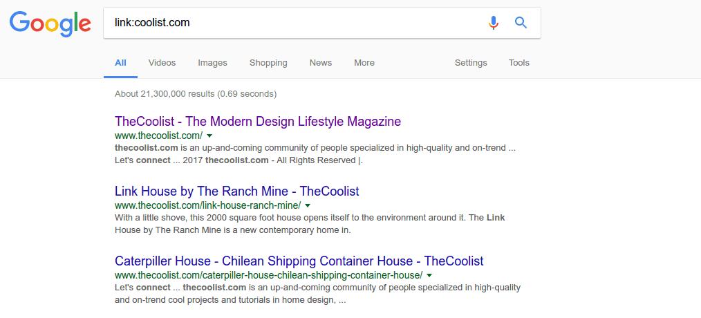 Links – google tip